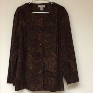 Notations Ling Sleeve Button Down Gorgeous Sz 2X